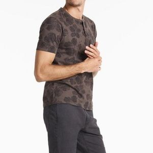 Lucky brand size small black floral Henley